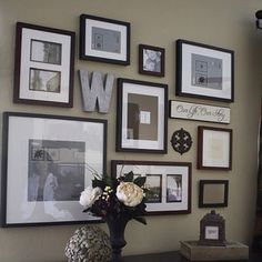 @Kathryn Whiteside Kimmons Barrios  This is kind of like what we have on the floor right now lol   Picture Frame Wall Collage