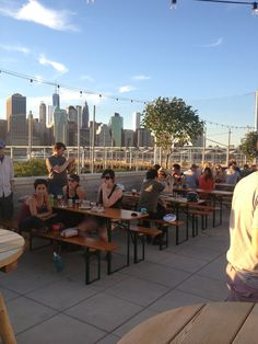 Rooftop pizza in Dumbo. What more can you ask for?  Fornino in Brooklyn, NY