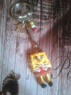 Porte clés bob l'éponge fimo - Mes créations en Fimo Plus de créations ici :  http://mescreasenfimo09.over-blog.com