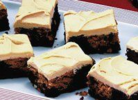 Brownies won't get any better than this peanut butter and chocolate combo frosted with even more peanut butter. Yum!