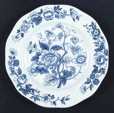WedgwoodWindermere-Blue & White at Replacements, Ltd