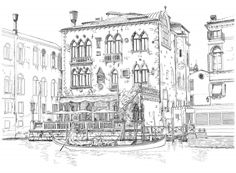 Do you like this coloring page about Venice? If you do, don't waste your time. Download, print and start color!
