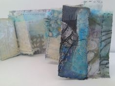 Cas Holmes- artist and author, textiles, collage mixed media with found materials. Textile Fiber Art, Textile Artists, Square Drawing, Cas Holmes, Collages, Fabric Journals, Art Journals, Creative Textiles, Book Sculpture