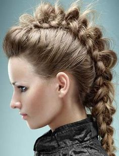 Not really one for super edgy braids, but this is one super awesome pancaked braid!!