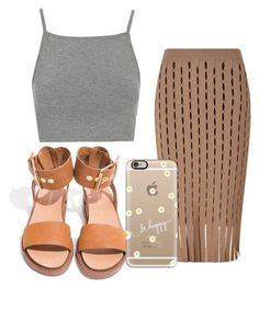 """""""Late summers day"""" by beyoutiful-xoxo ❤ liked on Polyvore featuring moda, Alexander Wang, Casetify e Topshop"""