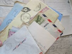 Vintage/Antique  Group of  Handwritten Letters in by ShaneLilyRain, $8.00