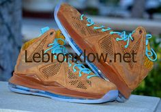f3cc2342010 Cheap Lebron 10 EXT QS Hazelnut Brown Suede Star Shoes