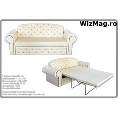 Canapea extensibila Eva WIZ 015 Love Seat, Homes, Couch, Modern, Furniture, Home Decor, Houses, Settee, Trendy Tree