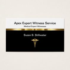 Classy Medical Expert Witness Businesscards Business Card Custom Legal Branding Office Products and Gifts #legal #lawyer #solicitor #law