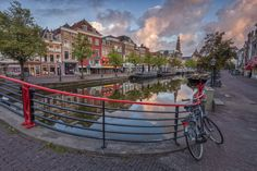 A typical morning scene in the student town of Leiden, Netherlands © Curtis Budden curtisbuddenphotography Leiden Netherlands, Photography Workshops, Cityscapes, Holland, Dutch, Scene, Student, Tours, Mansions
