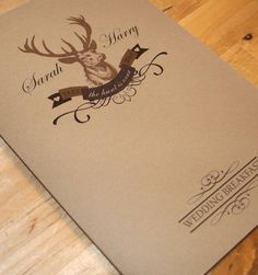 Stag 'The Hunt Is Over' Wedding Stationery