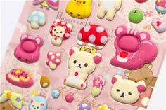 Rilakkuma puffy Stickers