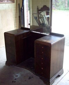 Before: Scratched Vanity  - CountryLiving.com