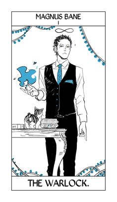 Magnus Bane - The Warlock: Cassandra Jean: Shadowhunter Tarot Series: *Character belongs to Author Cassandra Clare and her Shadow World (TMI, TID, TBC, etc) Cassandra Jean, Cassandra Clare Books, Jace Wayland, Isabelle Lightwood, The Infernal Devices, Jonathan Morgenstern, Clary Et Jace, Clary Fray, Ragnor Fell