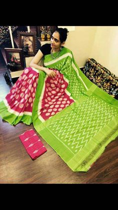 d9775486b9697d Ikkat Saree, Pochampally Sarees, Elegant Fashion Wear, Trendy Fashion,  Cotton Saree,