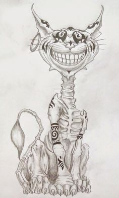 Drew this American McGee's Chesire Cat for Halloween
