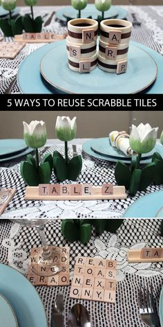 Triple Word Score!! Click through for 5 fun ways to reuse old Scrabble tiles.