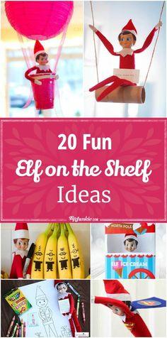 20 Fun Elf on the Shelf Ideas via @tipjunkie