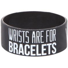 Sleeping With Sirens Wrists Rubber Bracelet | Hot Topic ($7) ❤ liked on Polyvore featuring jewelry, bracelets, accessories, rubber bracelets, bands, rubber bangles and rubber jewelry