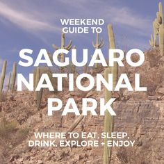 The Weekend Guide to Saguaro National Park :: Things to do at Saguaro National Park :: Best hikes, bike rides, places to stay near Saguaro #arizona #saguaro