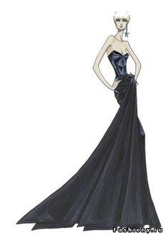 Эскизы платьев версаче девушка модель работы педагога психолога в доу