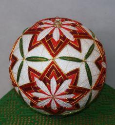 Christmas temari ball in white...