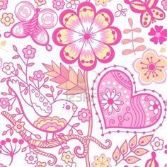 Patrón floral sin fisuras, la textura infinita de flores. Vector de fondo para el diseño textil. Foto de archivo