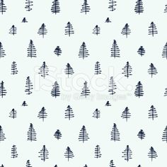 Simple cartoon seamless patterns with cute trees royalty-free stock vector art