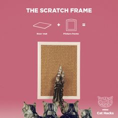WHISKAS Cat Hack: The Scratch Frame - Has your cat got scratching down to a fine art? Turn their natural scratching behaviour into highly collectible scratchpost modernism. Then head to our profile for more handy how-to's.