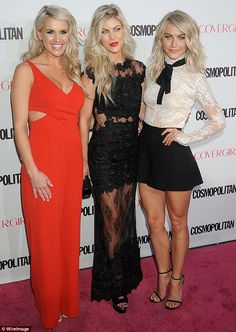 Three muskateers: Julianne Hough (far right)and sisters, Sharee and Marabeth, wowed on the red carpet at Cosmopolitan Magazine's birthday celebration on Monday at Ysabel in West Hollywood Julianne Hough Hot, Silver Gown, New Years Eve Dresses, Celebrity Look, Beautiful Legs, Sexy Legs, Plus Size Women, Beauty Women, Cosmopolitan
