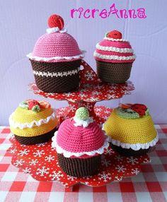 ricreAnna - Creazioni all'uncinetto: Tutorial cupcake crochet !!! (seconda parte)