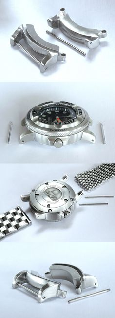 Other Watch Parts 10324: Silver Adapters Fits Citizen Eco-Drive Promaster Professional Diver Bj8050-08E BUY IT NOW ONLY: $55.0