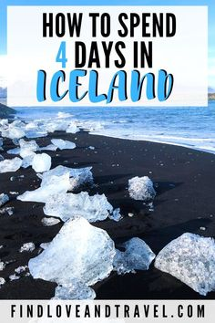 Your ultimate guide to seeing the best of Iceland in 4 days! This Iceland travel guide includes visiting the Blue Lagoon, seeing glaciers, black sand beaches, waterfalls, and more! #Iceland #traveltips Iceland travel | Iceland Itinerary | 4 Days in Iceland | Iceland photography | Iceland in Spring | Blue Lagoon Iceland | Iceland Road trip | Travel tips for your Iceland vacation | Best time to go to Iceland | Where to go in Iceland | photo spots in Iceland | Best waterfalls to see in Iceland
