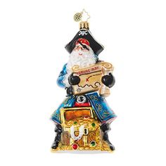 Santa's Got Booty Ornament by Christopher Radko Size: Release Date: 2017 Includes Signature Tag and Official Christopher Radko Gift Box. Christopher Radko Ornaments have long been renowned as some of the finest handcraft Nautical Christmas, Whimsical Christmas, Christmas Mood, Glass Christmas Ornaments, Christmas Greetings, Christmas Trees, Classic Christmas Decorations, Christopher Radko Ornaments, Classic Hats