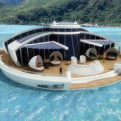 Floating villa - looks like fun!