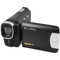 BELL+HOWELL DNV6HD-BK 20.0-Megapixel Rogue DNV6HD 1080p IR Night-Vision Camcorder. 20.0 megapixel;  8x digital zoom ;  1920 x 1080p Full HD video ;  3 wide touchscreen ;  Auto face detection ;  Auto smile capture ;  Auto motion detection ;  Antishake image stabilization ;  Touch auto exposure ;  Night mode ;  Self-timer ;  Built-in IR LED ;  Built-in USB port ;  Built-in HDMI(R) port ;  Compatible with SDHC(TM) Cards up to 32GB ;  Rechargeable Li-Ion battery ;  Dim: 2.3H x 2.1W x 5.4D…