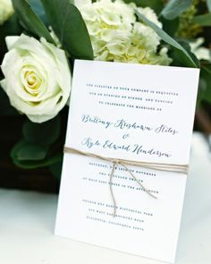 The Invitation: A classic charcoal-and-white invite designed by Simple and Pretty mixed a serif-style font and calligraphy. Since letterpress was a must, the couple balanced their budget by contacting each guest individually to see if they were able to attend instead of utilizing RSVP cards.