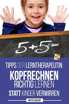 Richtig Kopfrechnen lernen mit Hilfe der Zehnerzerlegung Learn how to do mental arithmetic with the help of tens decomposition: tips from the learning therapist. Don't confuse your children! Because mental arithmetic is not written arithmetic! Natural Parenting, Kids And Parenting, Parenting Hacks, Kids Sand, Learn To Count, Kids Education, Back To School, School Hacks, Homeschool