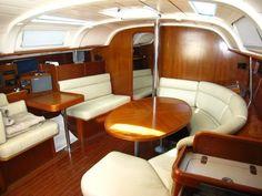 Interior of 40' sailboat - main cabin
