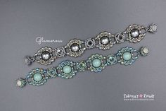 Glamorous Bracelet Czech Dome Beads Tutorial Beading
