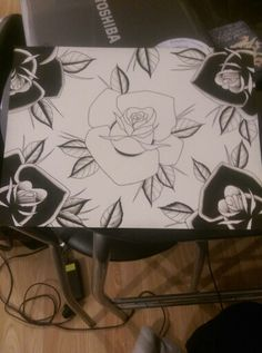 Black rose painting, more to come.