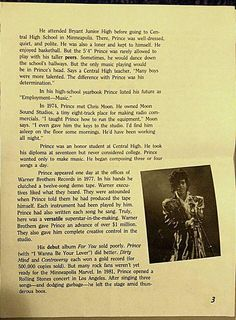 An older article about Prince page 3
