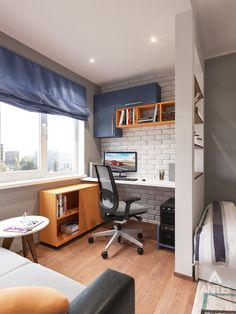 Home Office Design, Home Interior Design, Interior Decorating, House Design, Home Office Inspiration, Small Room Design, Teenage Room, Boys Bedroom Decor, Kid Spaces
