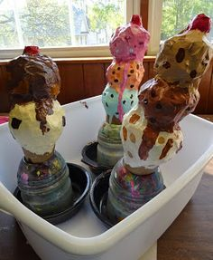 There's a Dragon in my Art Room: Super-delicious papier-mache ice cream cones!!!