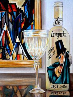 Salmueras de eneldo, pintura original del artista Oriana Kacicek | DailyPainters.com