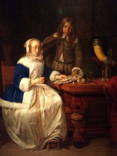 18th Century Fashion, 17th Century, Gabriel Metsu, Baroque Painting, Dutch Golden Age, Dutch Painters, Vintage Artwork, Ferdinand, Rembrandt
