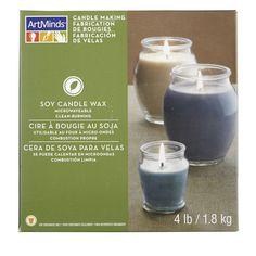 Candle Making Soy Wax by ArtMinds™ Soy Candle Making, Candle Making Supplies, Making Candles, Soy Wax Candles, Candle Wax, Candle Making Business, Homemade Soap Recipes, Candle Containers, Candlemaking
