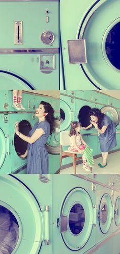 love the retro laundromat idea!  So cute!!!