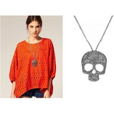 New Fashion Women Vintage Rock Gothic Sugar Skull Pendant Necklace Hot Sell Long Chain Necklace, Long Pendant Necklace, Vintage Rock, Vintage Ladies, Retro Fashion, Vintage Fashion, Womens Fashion, Skull Sweater, Cheap Necklaces