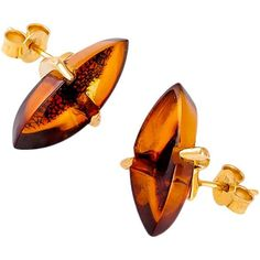 Be-Jewelled Marquise Amber Stud Earrings ($160) ❤ liked on Polyvore featuring jewelry, earrings, amber stud earrings, jeweled earrings, amber earrings, stud jewellery and claw earrings